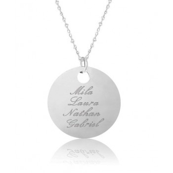"Engraved Large Charm 1.4"" (3.5cm) Necklace"