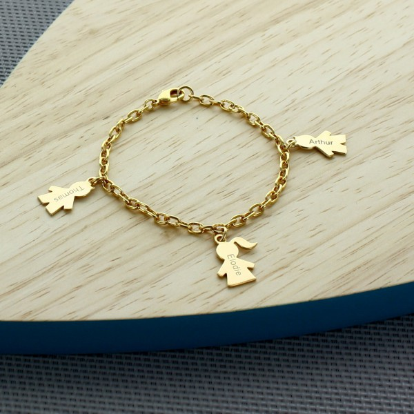 Personalized boy/girl bracelet Gold Plated