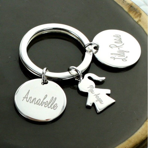"""Personalized """"My Family"""" Small Keychain"""