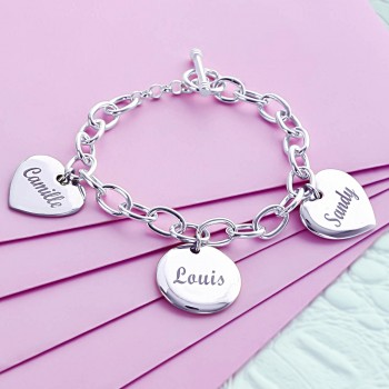 """The Loves of My Life"" Engraved Bracelet"