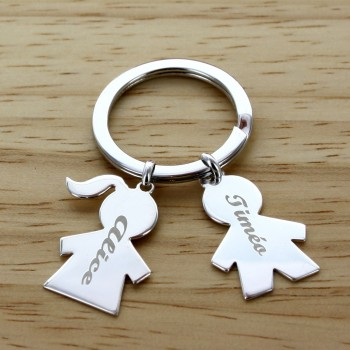 "Personalized ""My Family"" Large Keychain"
