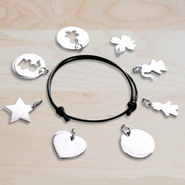 Long Necklace with Engravable Charms