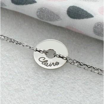 Engraved Round Token Bracelet