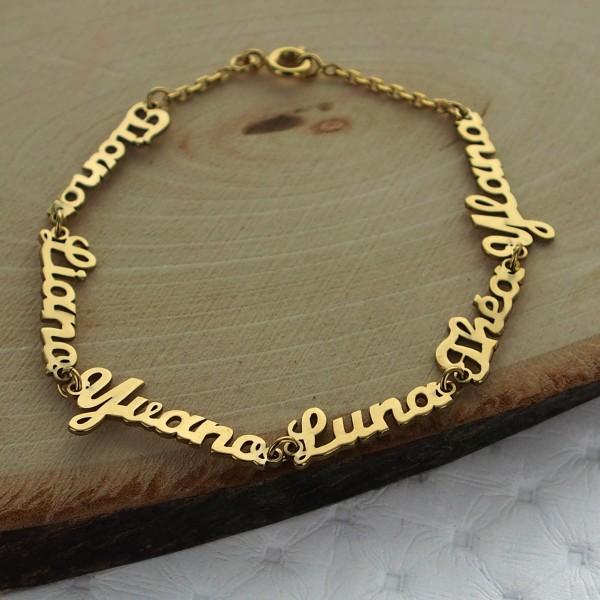Nameplate bracelet on chain