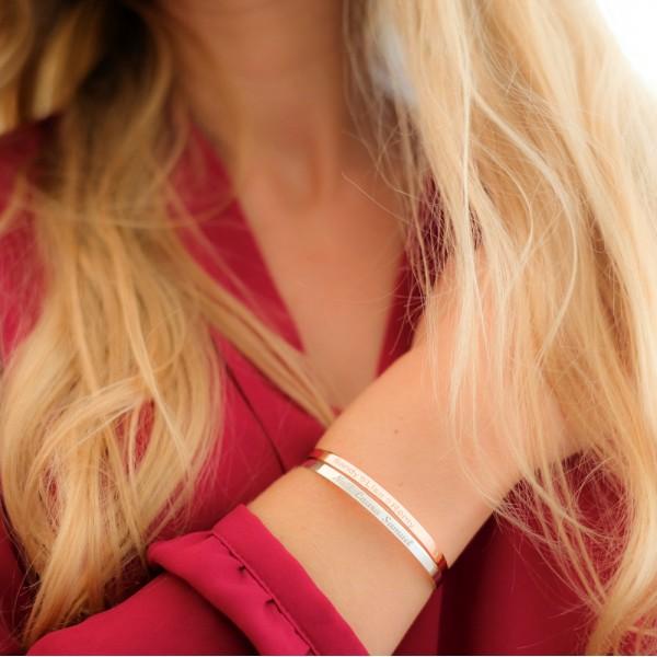 Small Personalized Bangle Bracelet