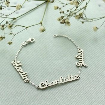 Nameplate bracelet on chain