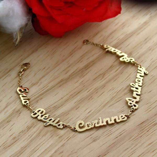 Bracelet prénom découpé en Or 18 carat