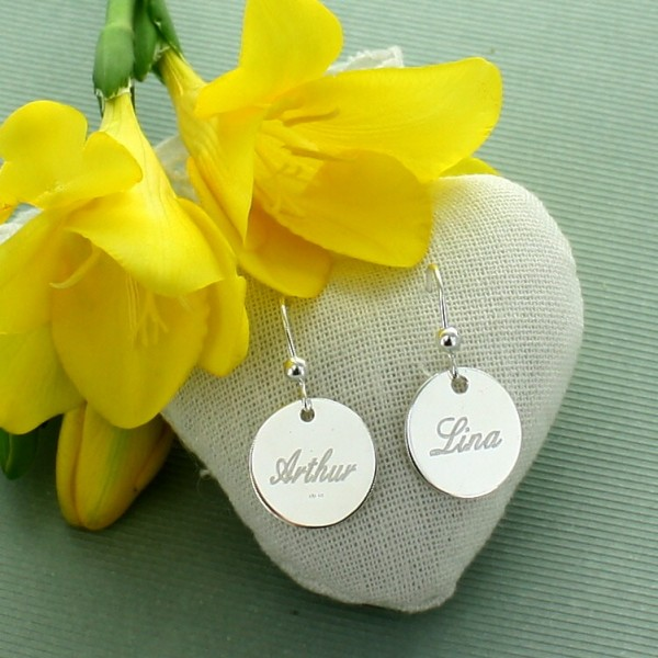 Round Earrings to be Engraved
