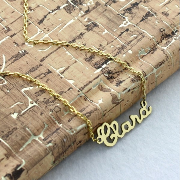 Children's letters Nameplate Necklace