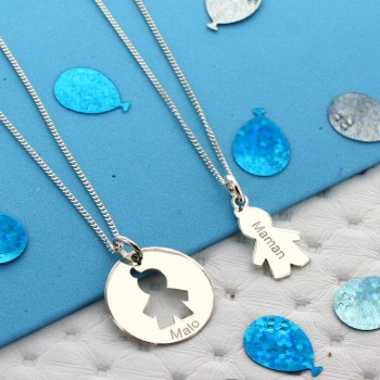 Mother/Child necklace set