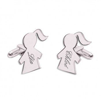 Engraved Figurine Boy/Girl Cufflinks