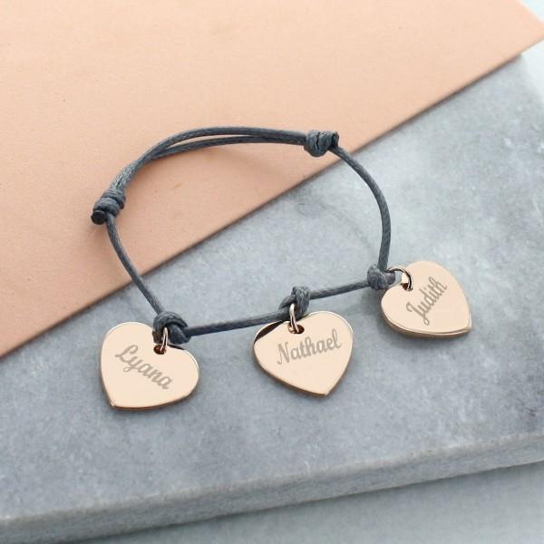 """""""My Little Hearts"""" Bracelet in Rose Silver"""