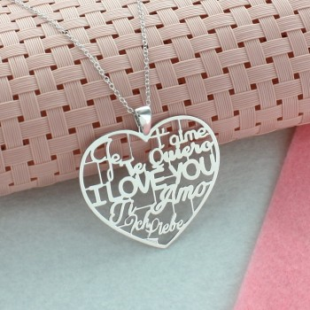 """""""I love you"""" in all Languages Necklace"""