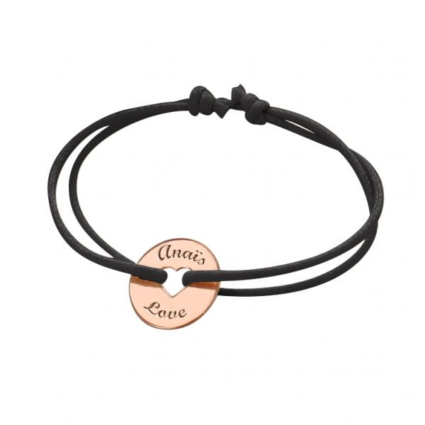 Cord Bracelet with Small Heart Token