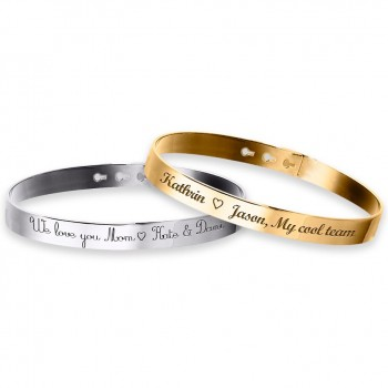 Duo Large Bangle Bracelets to engrave