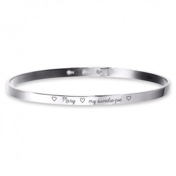 Small Personalized Bangle Bracelet