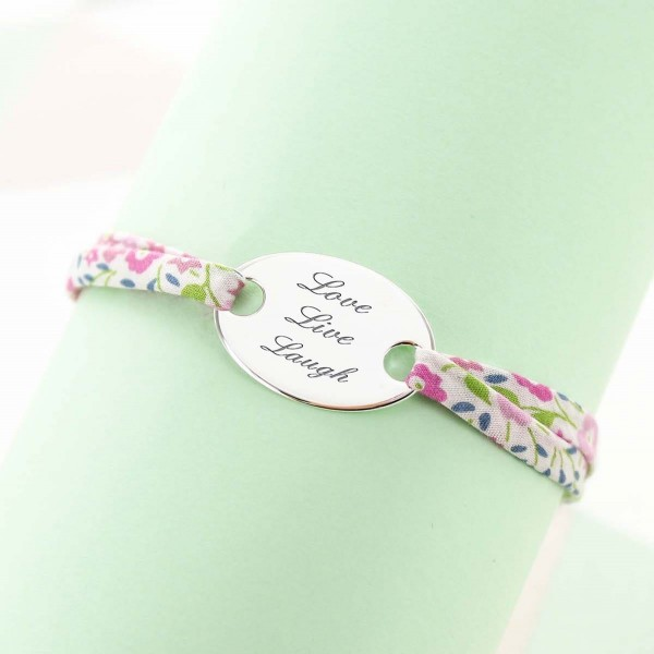 Liberty Bracelet with Oval plate to Personalise