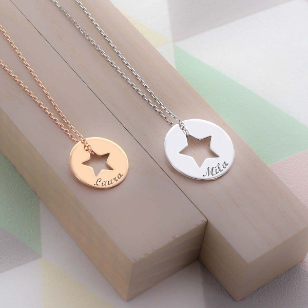 Necklace with Personalised Star
