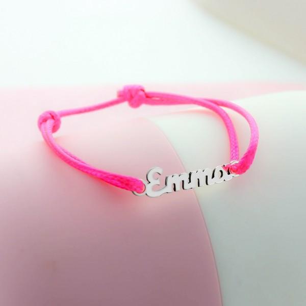 Nameplate Cord Bracelet