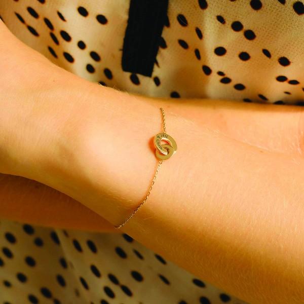 """""""Enlace me"""" Double Ring Bracelet"""