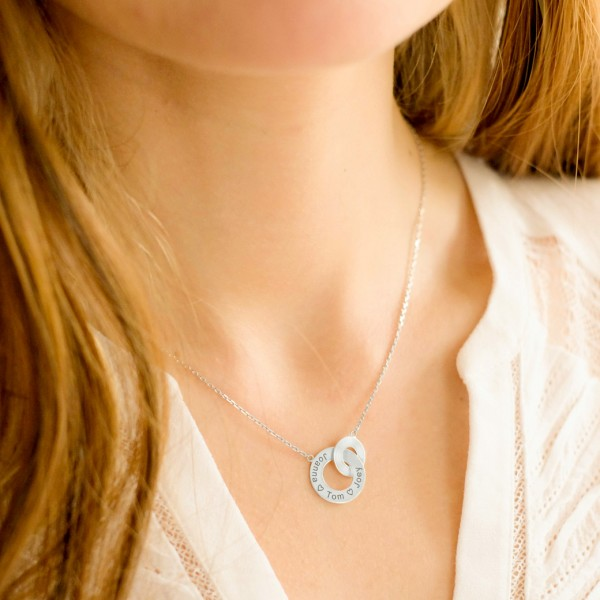 """""""Enlace me"""" Double Ring Necklace"""
