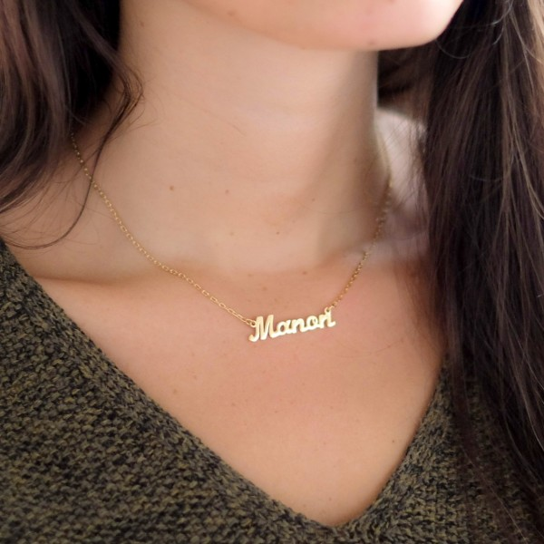 Nameplate Necklace Gold Plated
