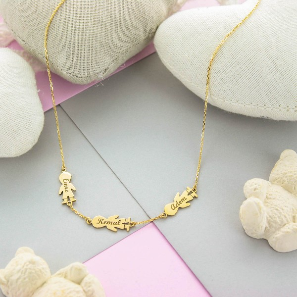 18k Gold Figurine Necklace
