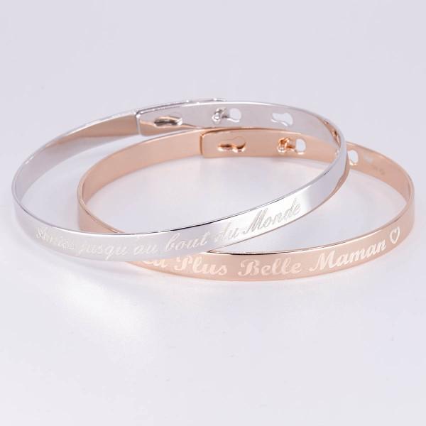 Personalised Duo Bangle Bracelets