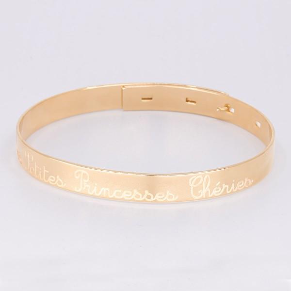 Large Personalised Bangle Bracelet