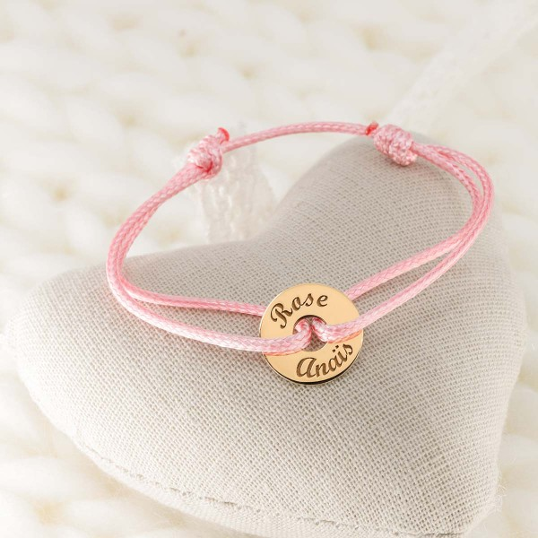 Bracelet with small charm in 18k Gold