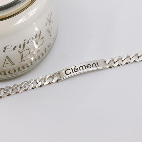 Men's Engraved Chain ID Bracelet